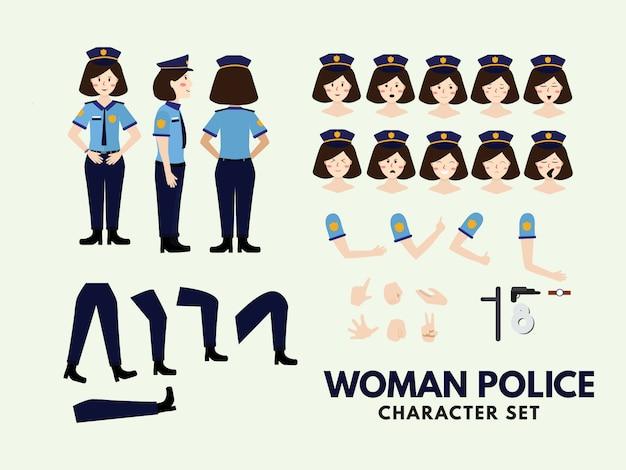 Zestaw znaków kobieta policji