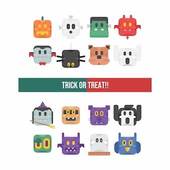 Zestaw znaków ładny halloween