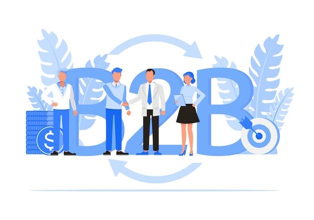 Zestaw znaków ludzi biznesu. koncepcja business to business.