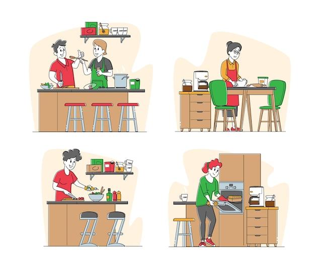 Zestaw znaków męskich i żeńskich gotowania