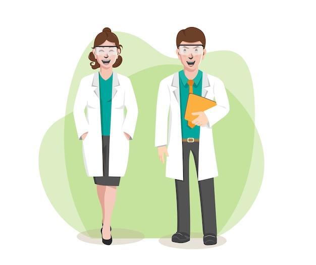 Zestaw znaków męskich i żeńskich lekarzy, zawodowych lekarzy lekarzy