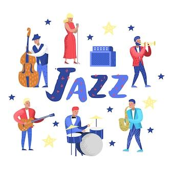 Zestaw znaków muzyki jazzowej