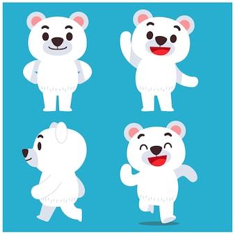 Zestaw znaków niedźwiedzia polarnego