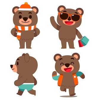 Zestaw znaków niedźwiedzia