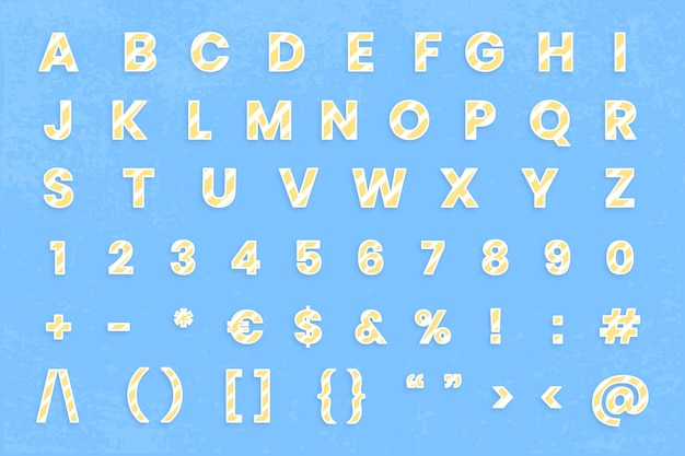 Zestaw znaków numeru litery