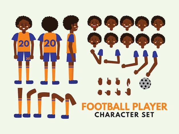 Zestaw znaków piłkarz futbolowy