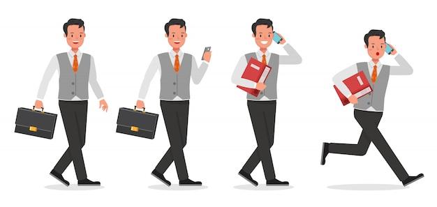 Zestaw znaków roboczych biznesmen