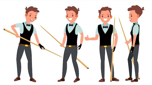 Zestaw znaków snooker male player