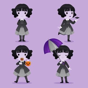 Zestaw znaków wampira na halloween
