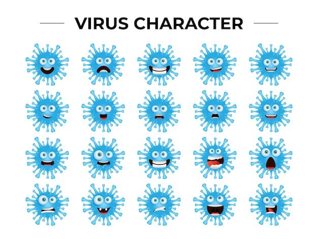 Zestaw znaków wirusa koronowego
