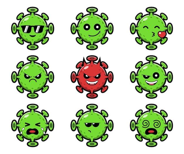 Zestaw znaków wirusa