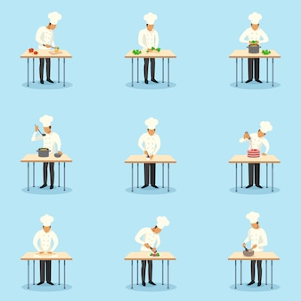Zestaw znaków zawodu kucharza