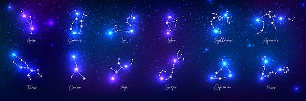 Zestaw znaków zodiaku