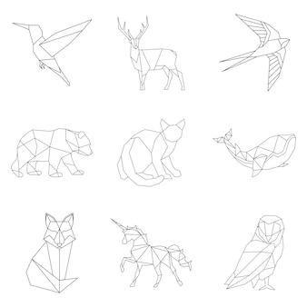 Zestaw zwierząt liniowych