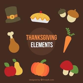 Zestaw żywności dziękczynienia kolacji