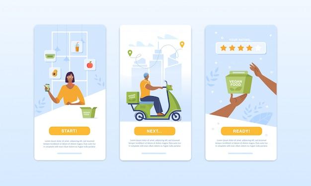 Zestaw żywności ekologicznej zamawiający zestaw usług dostawy