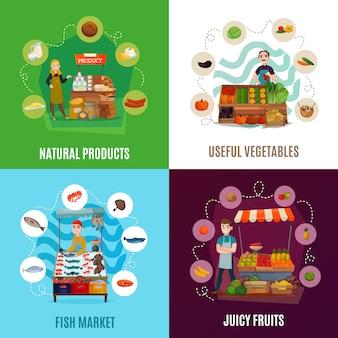 Zestaw żywności ulicznej