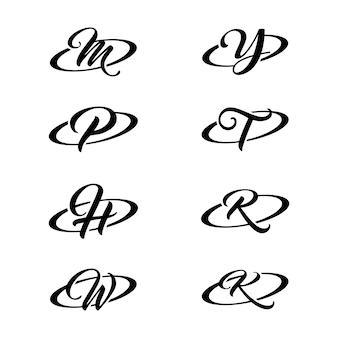 Zestawy kreatywnych symboli alfabetu