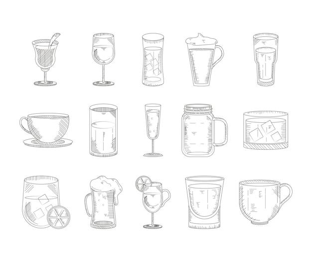 Zestawy rodzajów napojów
