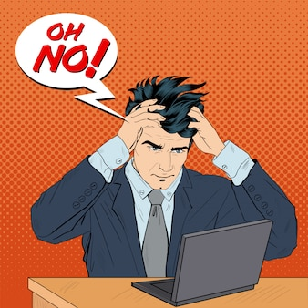 Zestresowany człowiek w pracy