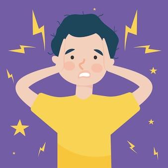 Zestresowany mężczyzna ilustracja
