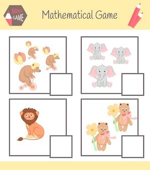 Zeszyt ćwiczeń matematycznych do edukacji przedszkolnej. puzzle dla dzieci. naucz się liczyć. rozwiąż przykłady.