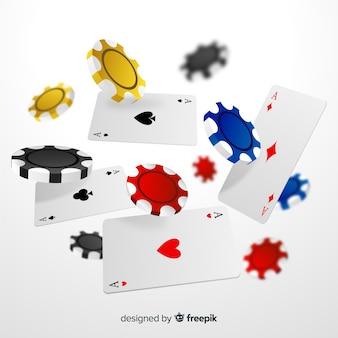 Żetony i karty do kasyna