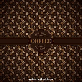 Ziaren kawy wzór
