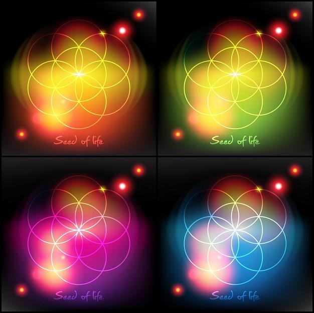 Ziarno życia. święta geometria. symbol.