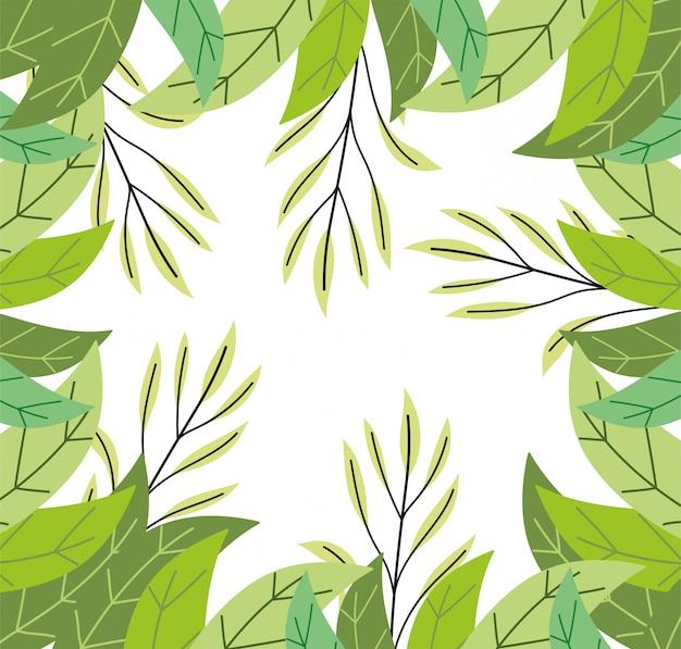 Ziele ulistnienie opuszcza roślinności botaniki dzikiego tło