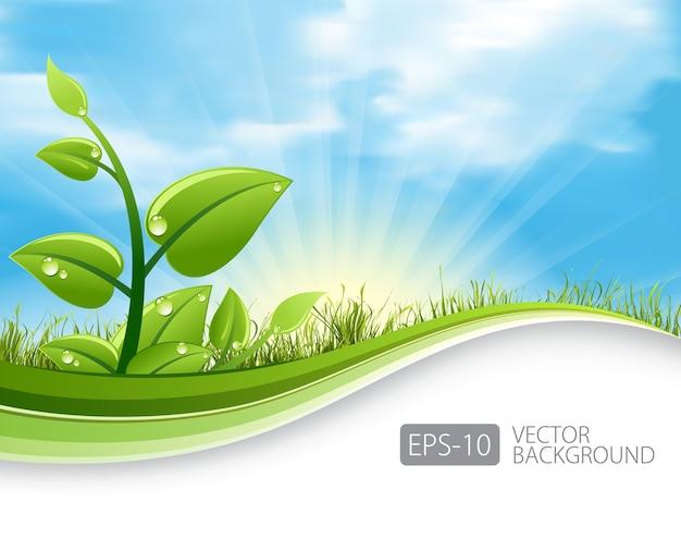Zieleń opuszcza ekologii tło