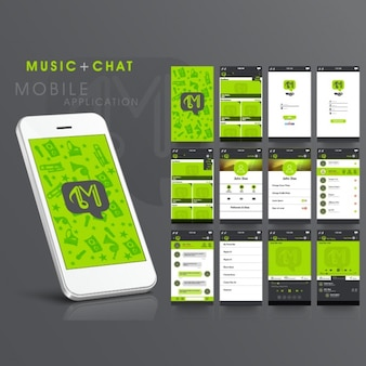 Zielona aplikacja muzyka