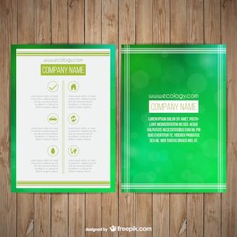 Zielona broszura ekologiczna