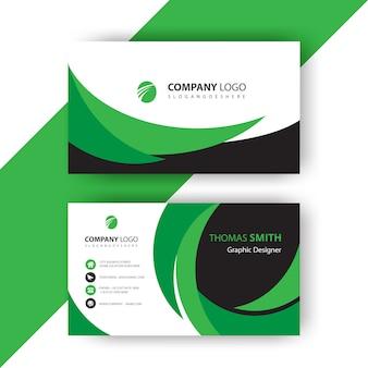 Zielona falista wizytówka