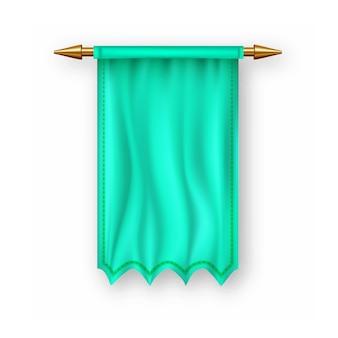 Zielona flaga pennat