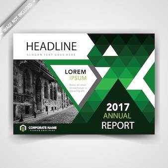 Zielona geometryczna broszura firmowa