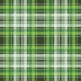 Zielona irlandzka kratka tkaniny w kratę bezszwowa tkanina tekstura