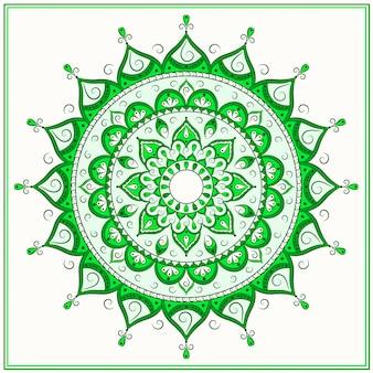 Zielona islamska mandala