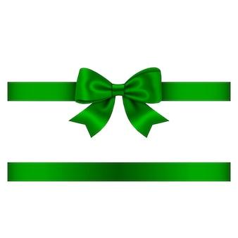 Zielona kokarda i wstążka