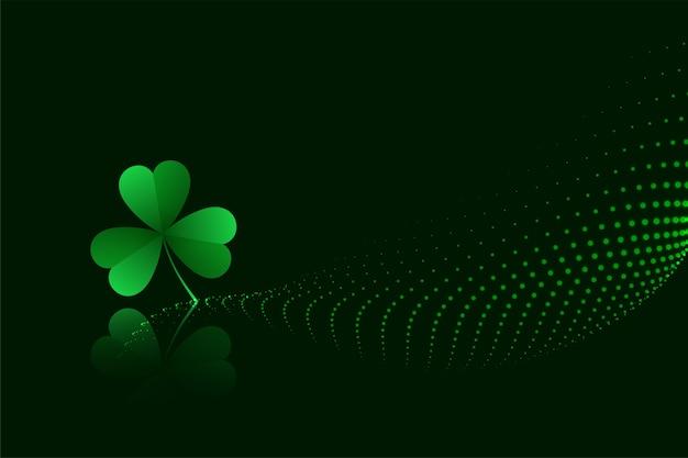 Zielona koniczyna pozostawia transparent dzień świętego patryka