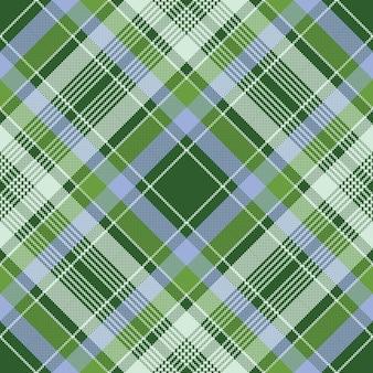 Zielona kratka kratka tkanina tekstura piksel wzór