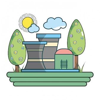 Zielona kreskówka przemysłu energii