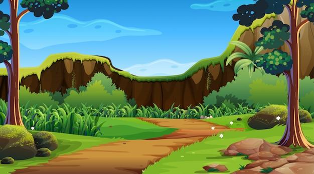 Zielona natura plenerowa scena