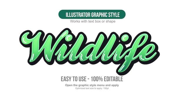 Zielona nowoczesna pogrubiona typografia pędzla