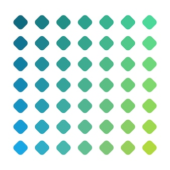 Zielona paleta kolorów wektora