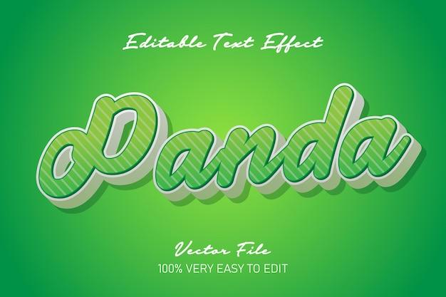 Zielona panda efekt tekstowy 3d