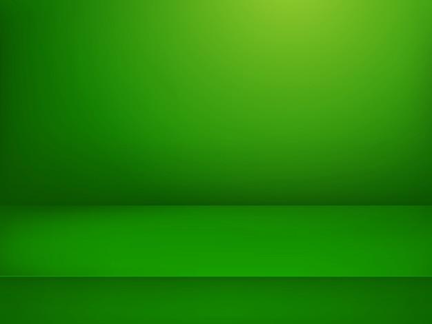 Zielona podświetlana scena.