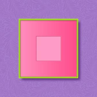Zielona ramka na fioletowym tle