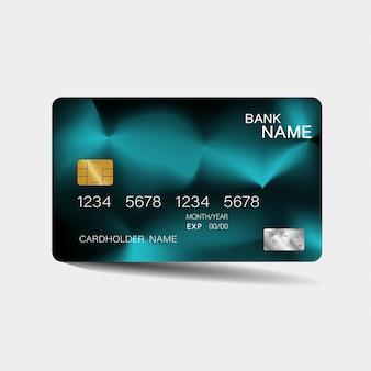Zielona realistyczna karta kredytowa