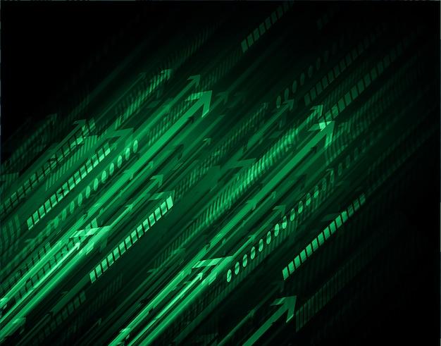 Zielona strzałka lekkie streszczenie technologia tło